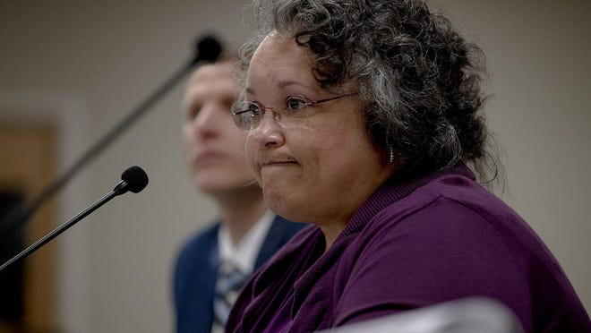 """Travis Chief Appraiser Marya Crigler attends a board meeting on Feb. 19 in Austin. Crigler says a new """"enhanced real estate report"""" will allow her to reappraise residential home values in 2021."""