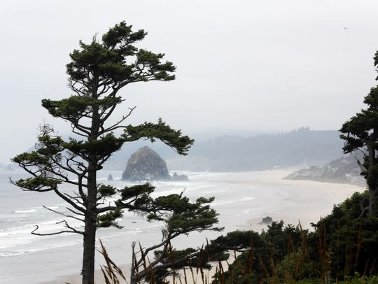 Cannon Beach's Tolovana Park and its view of Haystack
