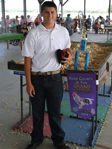 Wesley Ritenour, Gone Country 4-H Club; Grand Champion Fancy Poultry