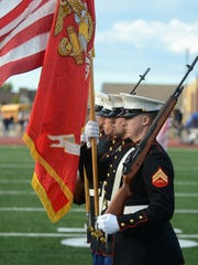 A Marine Corps Color Guard at the Sept. 1 dedication.
