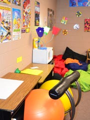 Edison School offers a variety of seating arrangements for its students.