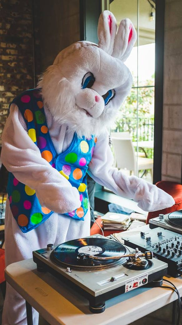 DJ Andre Broussard will provide services in a bunny