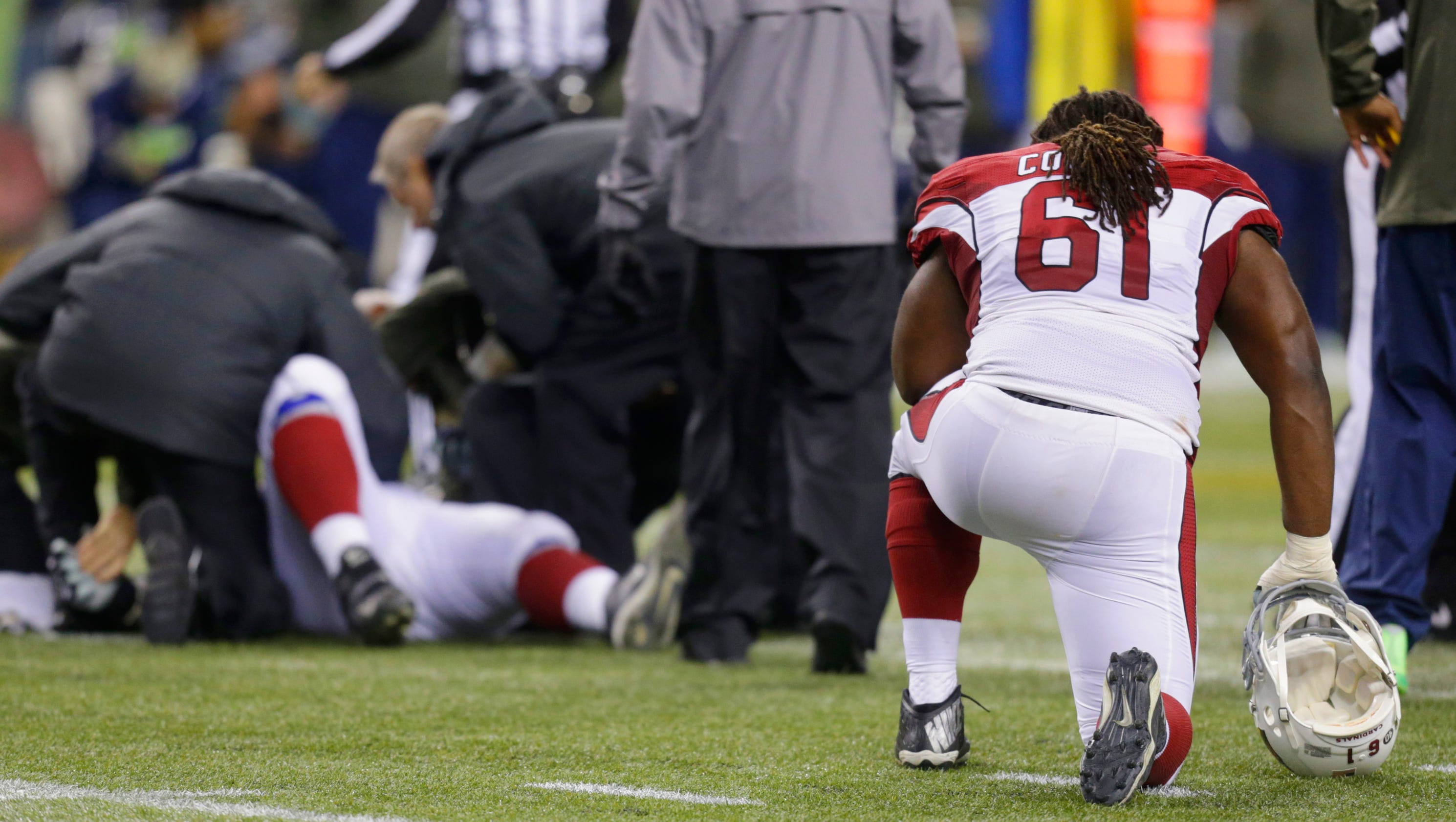 Image result for nfl players kneeling during injury