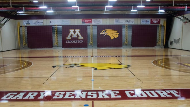 Lysaker Gymnasium, the home of the Minnesota Crookston basketball and volleyball teams, got a remodeled court this offseason.