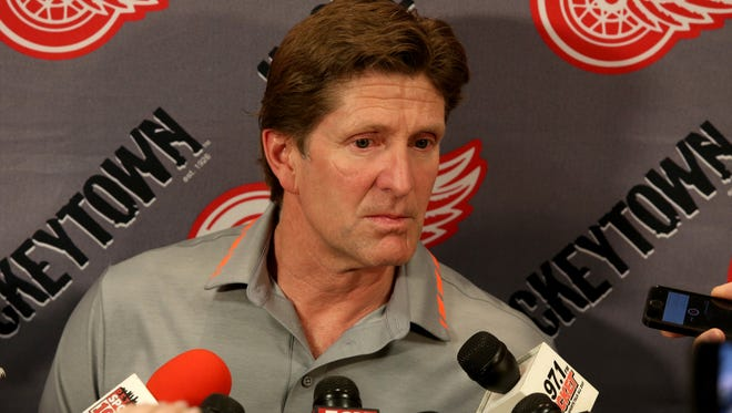 Former Red Wings hockey coach Mike Babcock