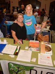 Judy and Hannah Pearce of RISE promote their portfolio of academic courses.
