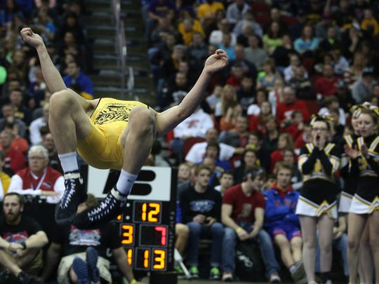2014: Center Point-Urbana's Brock Rathbun celebrates