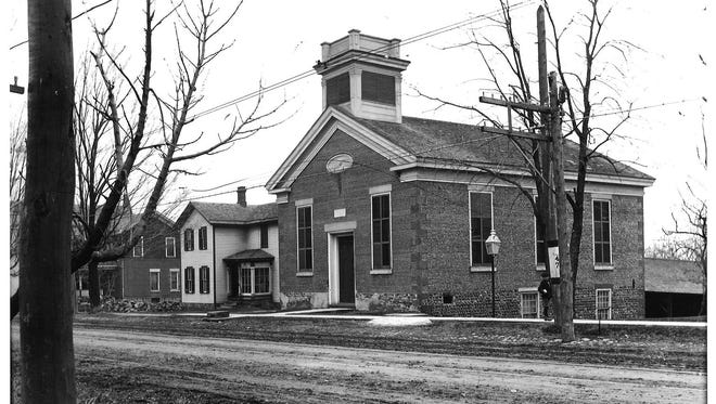 The cobblestone building at 109 W. Main St. in Webster originally was the First Universalist Church of Webster, seen in this undated photo.
