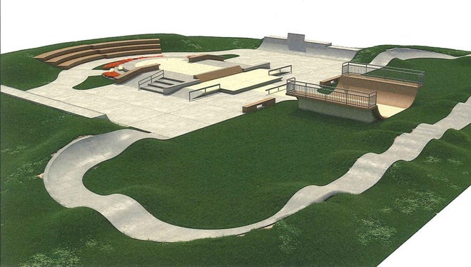 Artist rendering of a Sterling Heights Skate Park that would be built under a proposed millage. City of Sterling Heights