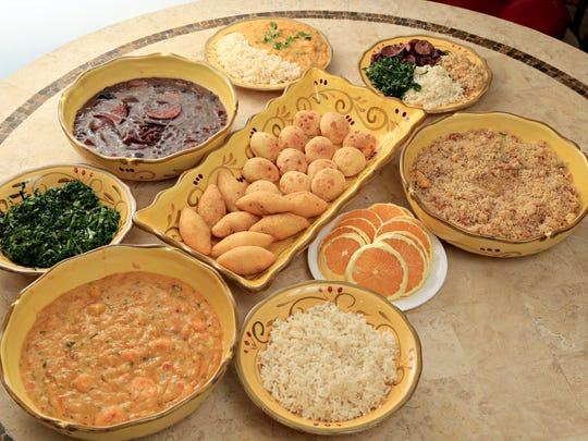 An array of traditional Brazilian foods created by Valquiria Fernandes and her niece Camilla Roberts in Goodyear.