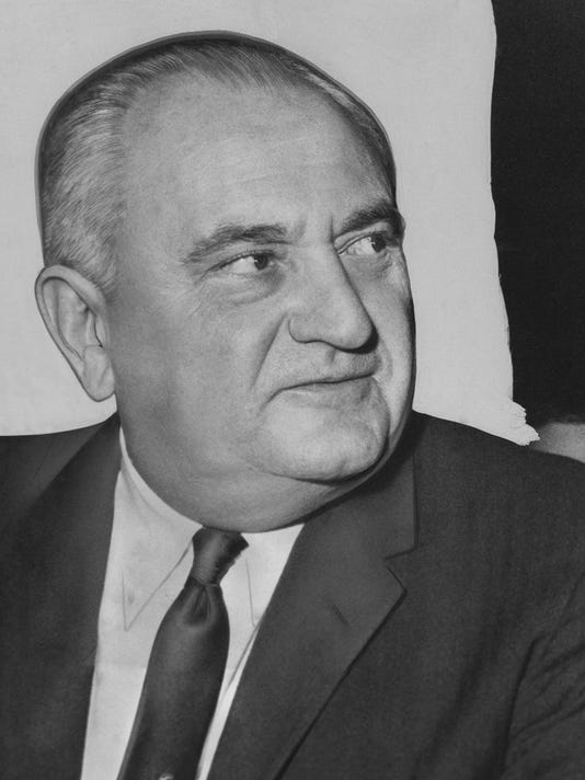 FILE - This is a 1959 file photo showing University of Kentucky basketball coach Adolph Rupp. Breaking down racial barriers wasn't the only legacy left from the 1966 title game between Kentucky and Texas Western. The two coaches, Rupp and Don Haskins, were trailblazers who helped to revolutionize the way the game is played today. (AP Photo/HBL, File)