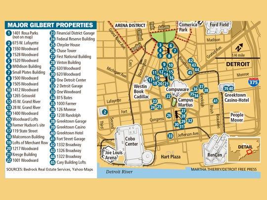 Dan Gilbert's major properties including new acquisition: