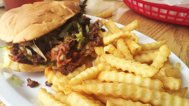 The Lucky Torta from Good Luck Café comes with sirloin, bacon and chorizo, avocado, tomato, lettuce, and a side of fries $7.99