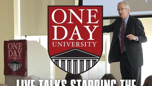 One Day University will be held March 31 at the Crown Plaza in Fort Myers.
