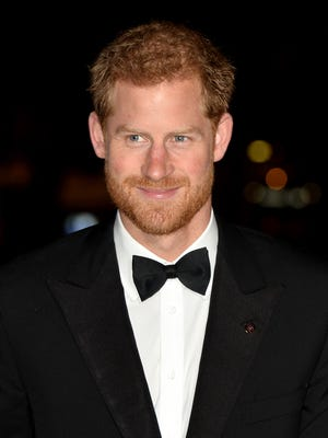 Prince Harry looked dapper in a bow tie at the 100 Women in Finance Gala Dinner on Oct. 11, 2017 in London, England.