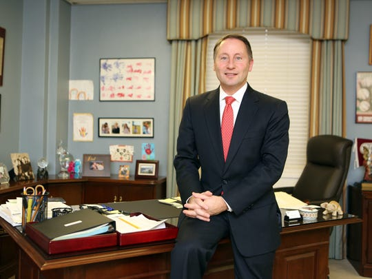 Rob Astorino, the Westchester County Executive, is pictured in his office in White Plains.