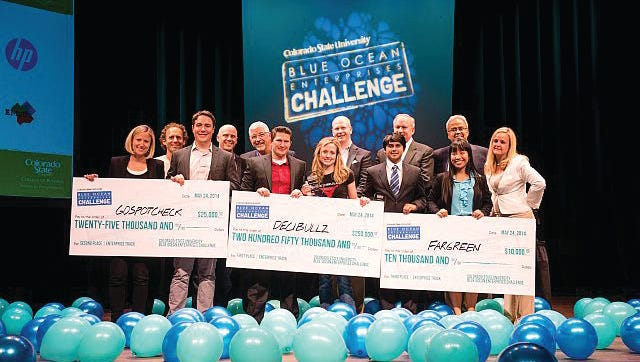 Winners of the first-ever CSU Blue Ocean Enterprises Challenge included teams from Denver, Loveland and Fort Collins.