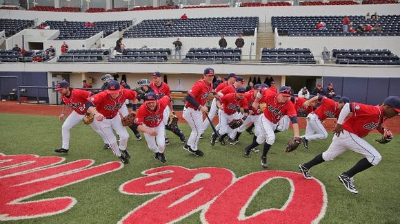 Ole Miss Baseball vs William and Mary in the 2015 season opener at OU Stadium/Swayze Field.  Photo by Joshua McCoy/Ole Miss Athletics