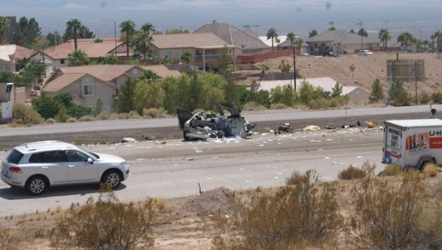 Mesquite and Beaver Dam Fire and Rescue teams responded to a multi-vehicle crash Sunday afternoon.