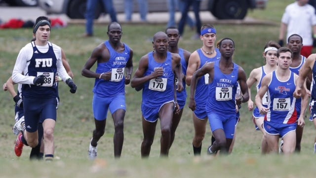Runners compete in Saturday's C-USA cross country championship in Bowling Green.