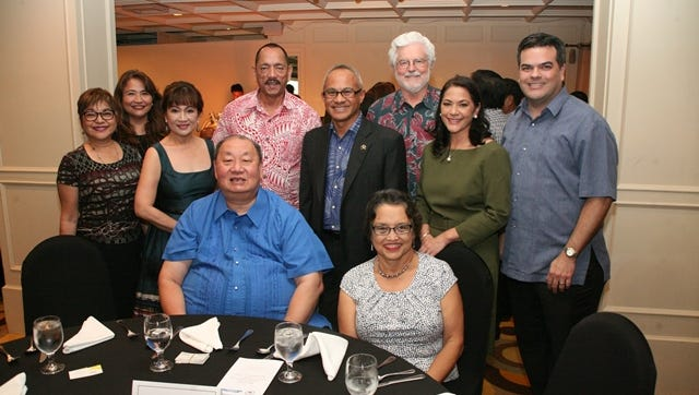 Various business and government leaders attended a dinner organized by Emelio Uy for the PCCI-Makati business delegation.