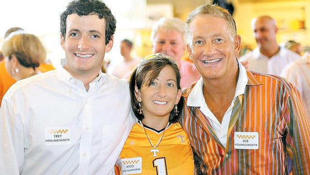 Trey Hollingsworth (left) with his sister Nikki and father, Joe Jr., in 2010.