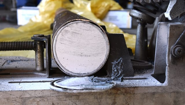 Heroin was found hidden in the axle of a tractor-trailer parked in Cortlandt.