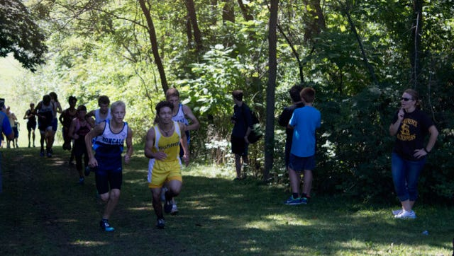 Students participated in the St. Lawrence Seminary Hilltopper Cross Country Invitational on Sept. 17.