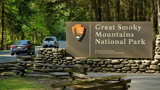 The entrance to the Great Smoky Mountains National Park  from Gatlinburg.  (MICHAEL PATRICK/NEWS SENTINEL)