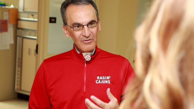 On Wednesday, UL softball head coach Michael Lotief became the first person in the United States to receive a state-of-the-art tracheostomy valve at University Hospital & Clinics.