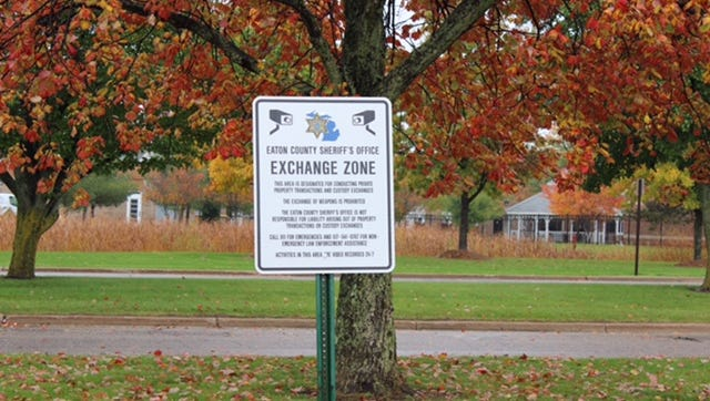 """The Eaton County Sheriff Department has offered space in its front parking lot as a safe """"Exchange Zone."""""""