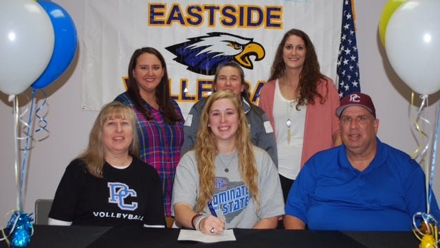 Eastside senior Allie Wright, a three-time all-state selection, signed to play volleyball at Presbyterian College.