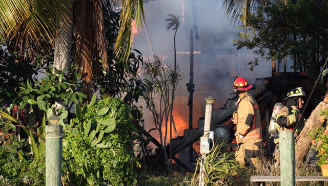 Firefighters from multiple agencies were fighting a house fire on Fort Myers Beach Saturday morning. Check with news-press.com for more updates.