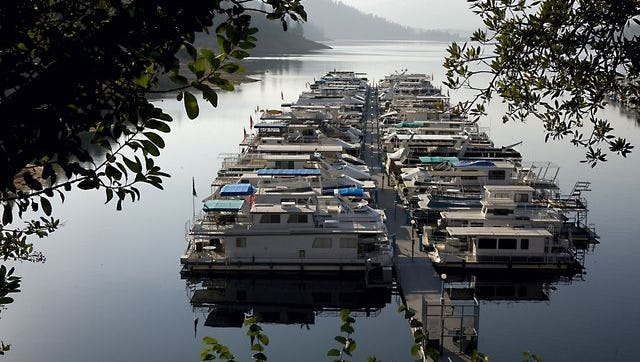 In this file photo, houseboats sit in their dock at Marina 5 at Bridge Bay Resort