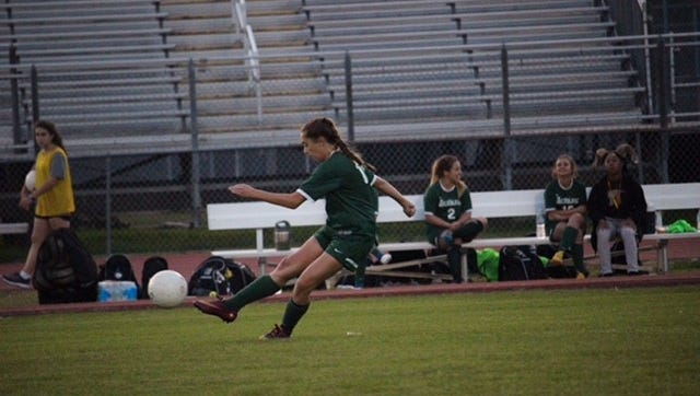 A player from the Acadiana Lady Rams practices before the game against Fointainbleau Monday night. Fountainbleau won 1-0 againt Acadiana.