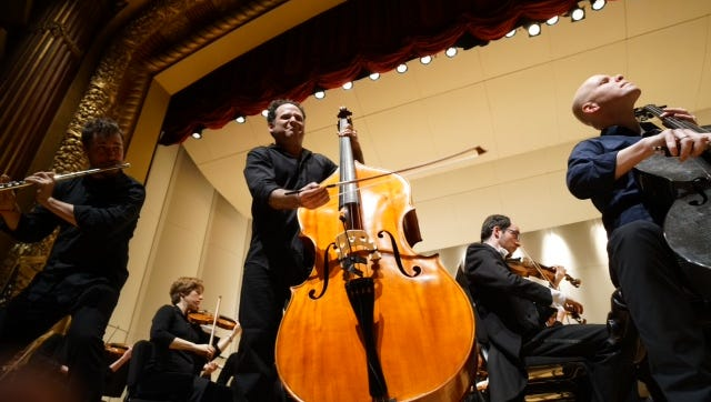 PROJECT Trio took to the Victor's stage Saturday night during the Evansville Philharmonic Orchestra performance.