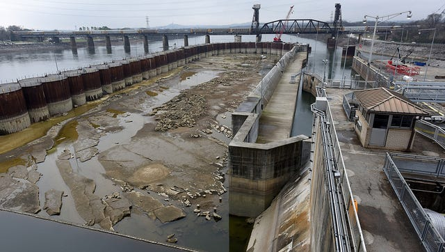 A coffer dam completed as part of the Chickamauga Lock Replacement Project will help allow future construction on a new lock.