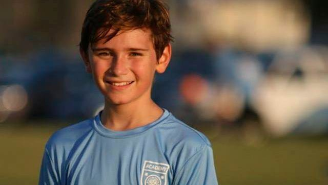 This undated photo provided by Mark McOmie shows Jackson Standefer. Authorities searched Grand Canyon National Park on Monday, April 17, 2017, for eighth-grader Standefer and his stepgrandmother who were swept away as they tried to cross a creek during a family trip in a remote part of the park.