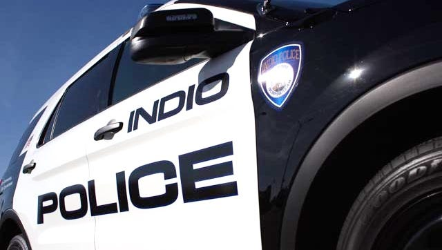 Indio police investigated a stabbing outside a grocery store Wednesday. A transient is accused of attacking a security guard and his brother.