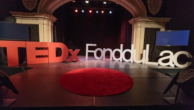 TEDxFondduLac stage set for the day on Saturday, Aug. 19, 2017. TEDxFondduLac was held in downtown Fond du Lac at the Thelma Sadoff Center for the Arts, 51 Sheboygan St.
