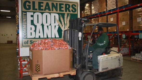Gleaners Community Food Bank was among three food banks
