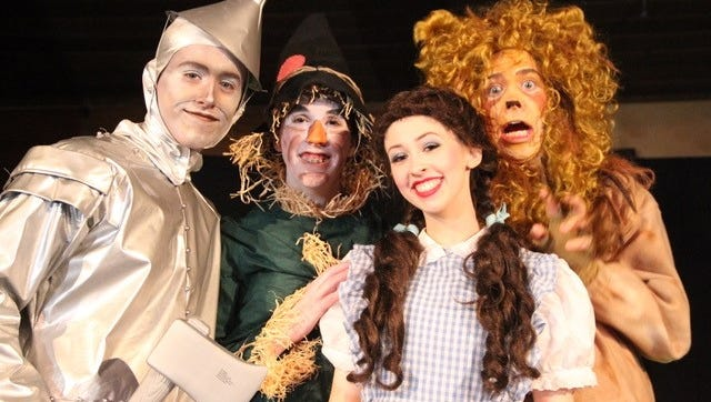 """SKIT Theatre will put on """"The Wizard of Oz"""" starting off with a public dress rehearsal Jan. 11 ($5), then regular performances 7 to 8:30 p.m. Jan. 12-13 and 18-20 at Salem First Free Methodist Church. $6 kids, $8 students/seniors, $10 adults."""