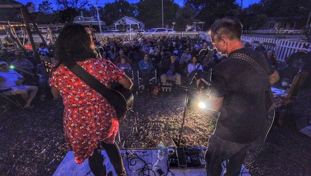 Wife and husband duo, Nikki Talley and Jason Sharp, bring their N.C. romantic mountain melodies and cool nomadic vibes to the Gulf Coast, Friday, March 30 at 7 p.m. in From the Ground Up Community Garden, 501 N Haynes St.