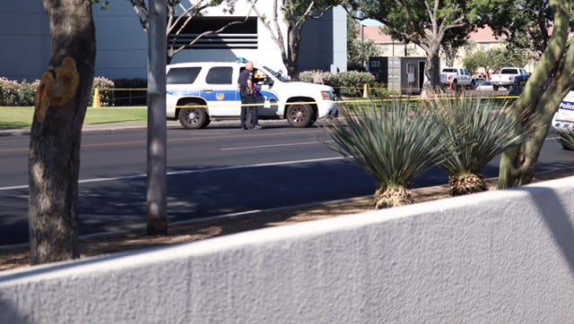 A Phoenix police officer shot a combative suspect during a trespassing call near Central Avenue and Osborn Road on June 12, 2018.