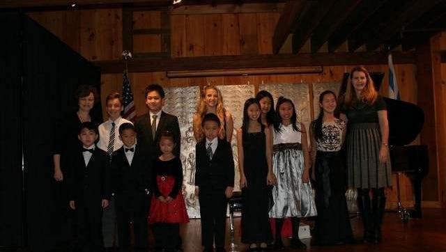 Marina Strakovsky and Students of Cecilian Club Members.