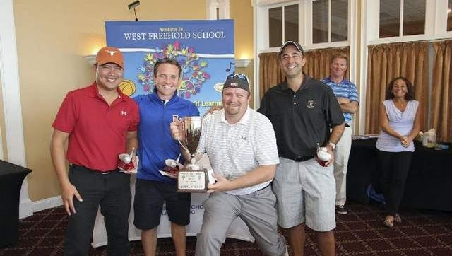 Winners of the 3rd Annual West Freehold School Golf Classic / (L-R) Leo Lomuntad, Robby Luethold, Michael Dilwor