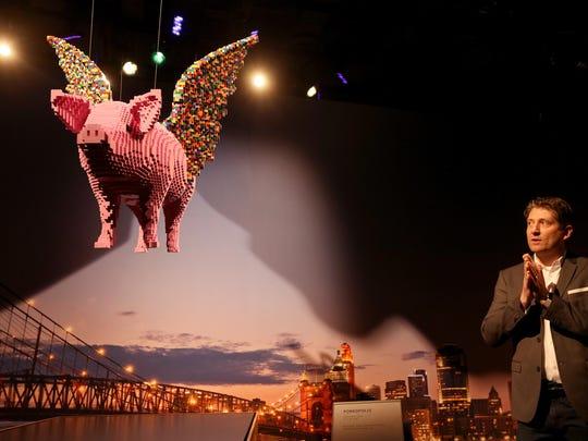 The Art of the Brick exhibit at the Cincinnati Museum Center.