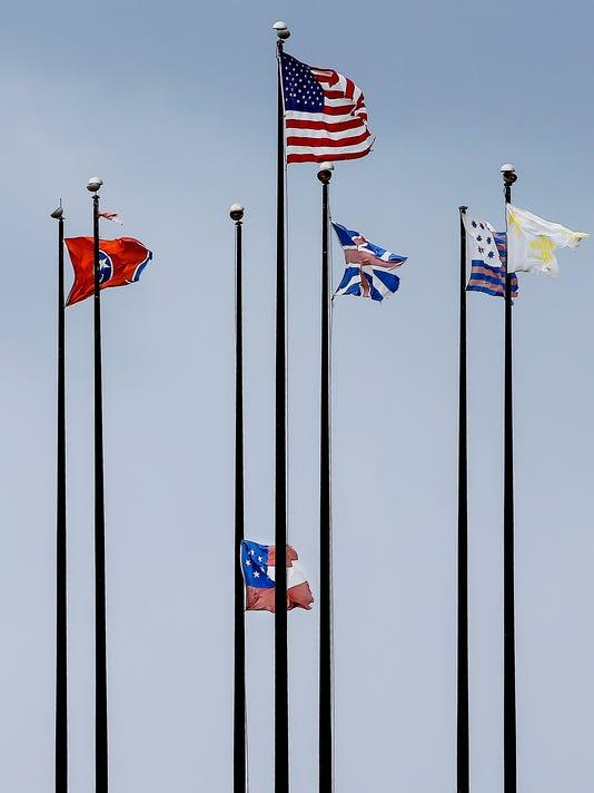 Mud Island confederate flag