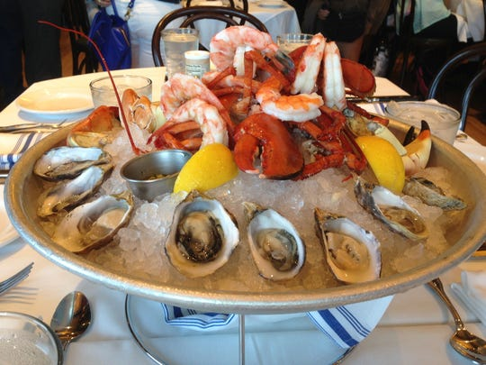 Fresh lobster, clams and shrimp are some of the seafood offerings at the new Boathouse restaurant in Downtown Disney.