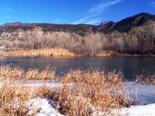 A pond in New Harmony, Utah, is shown on Tuesday, Dec.